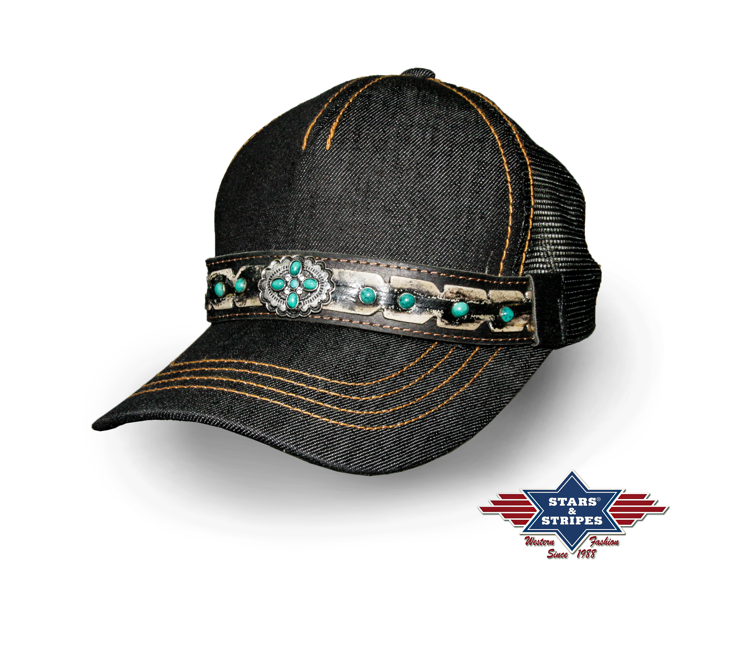 Cappellino Stars & Stripes Dark Washed Denim