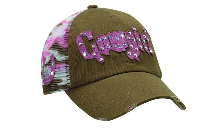 Cappellino Cowgirl Brown and Pink
