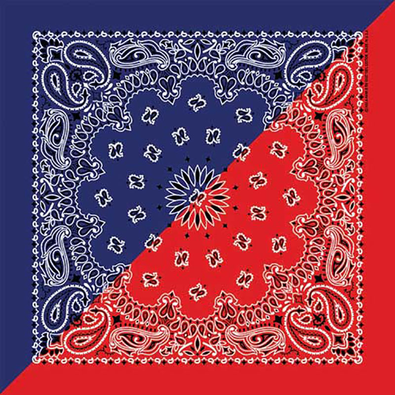 Bandana red/navy western design