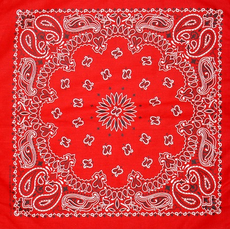 Bandana red western design