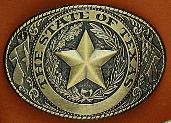 Fibbia Texas seal brass