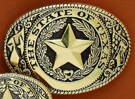 Fibbia Texas seal gold