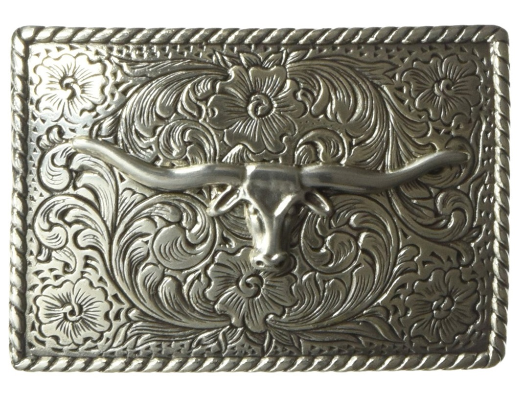 Fibbia Longhorn Belt Buckle