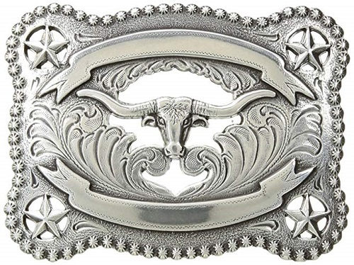 Fibbia Longhorn Double Ribbon