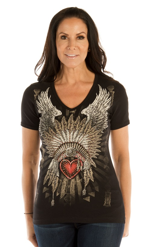 T-Shirt Liberty Wear Heart Headdress