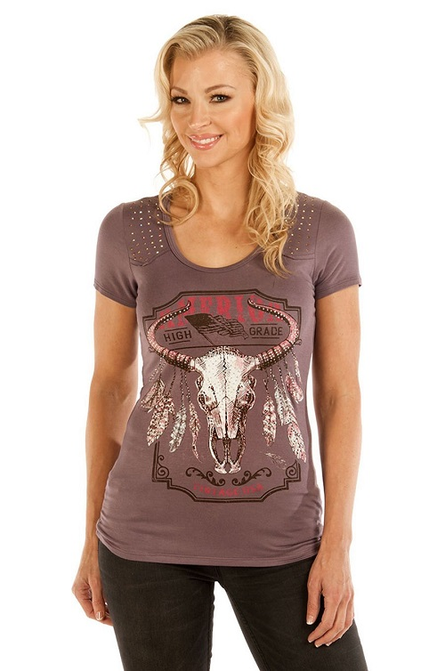 T-Shirt Liberty Wear purplish steer