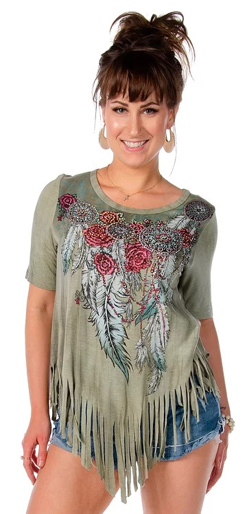 T-Shirt Liberty Wear outlaw fringes