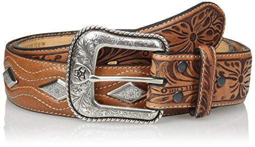 Cintura in pelle Ariat tan diamond conchos