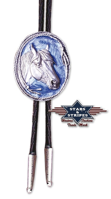 Bolo blue and horse head
