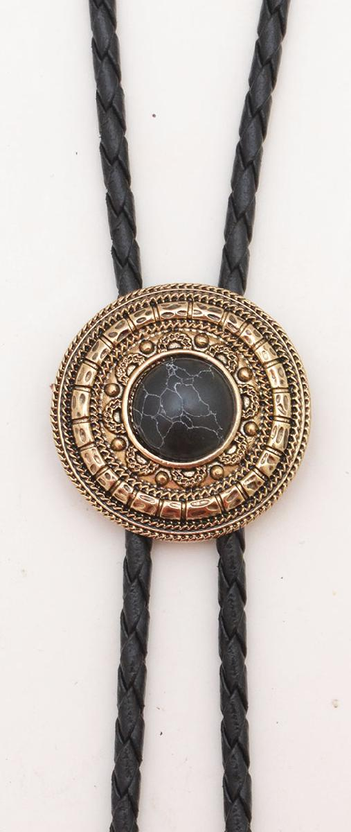 Bolo Gold Antique Black Stone