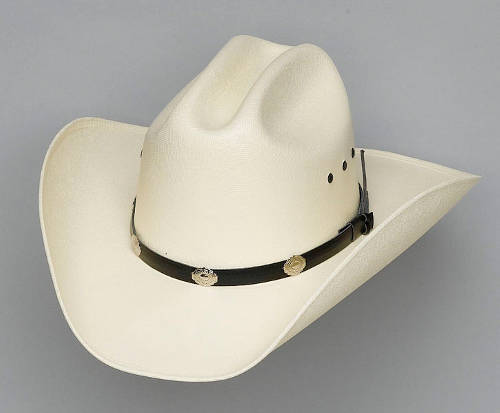 Cappello Western Cattleman silver concho