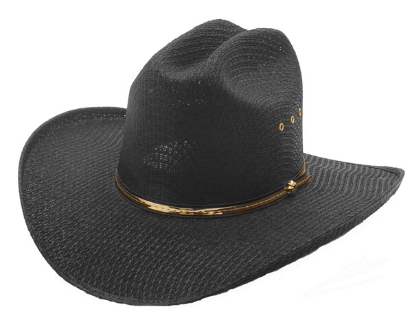 Cappello Western black gold hatband