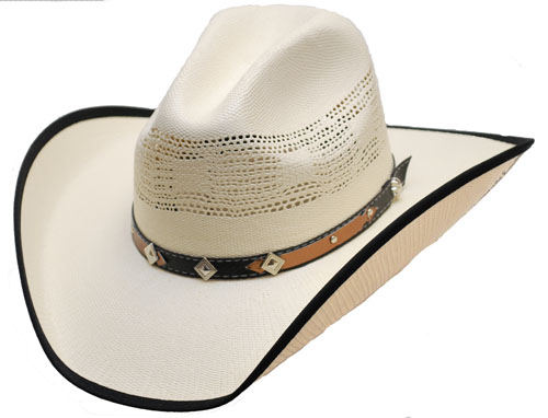 Cappello Western black and brown hatband