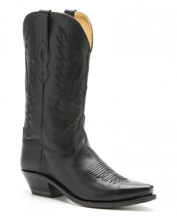 Stivali in pelle Old West Black