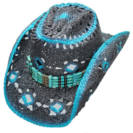 Cappello Western blue and black - CINTURINI ASSORTITI