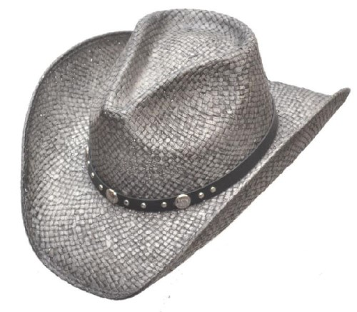 Cappello Western SIlver Pinch Front