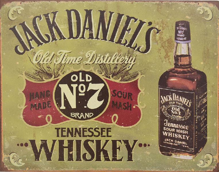 Insegna ufficiale Jack Daniel's old time distillery