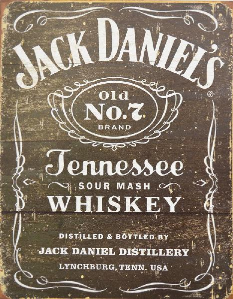 Insegna ufficiale Jack Daniel's vintage look