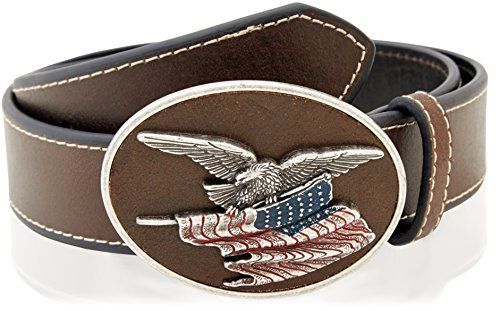Cintura in pelle Nocona eagle buckle