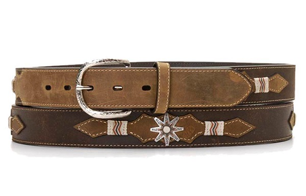 Cintura in pelle Star Conchos Brown