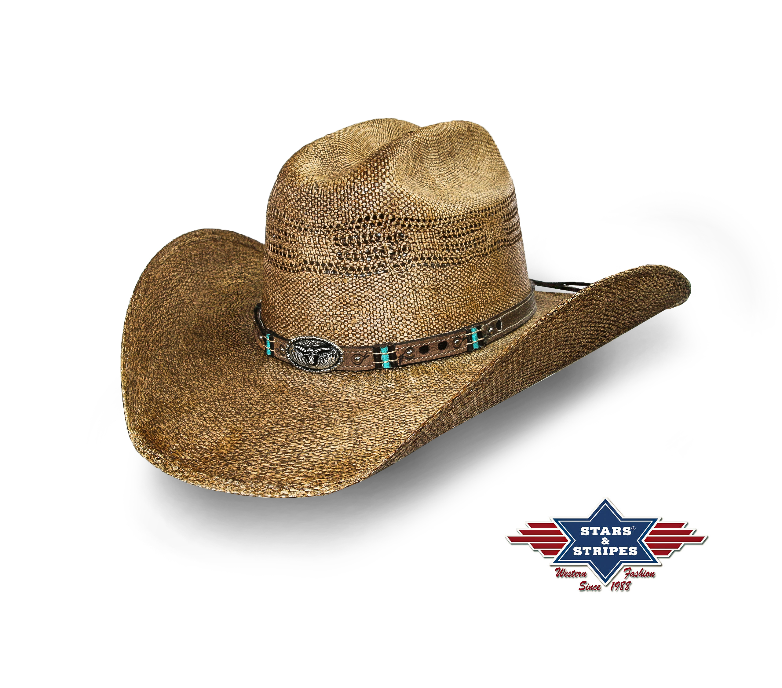 Cappello western Stars & Stripes Pinedale