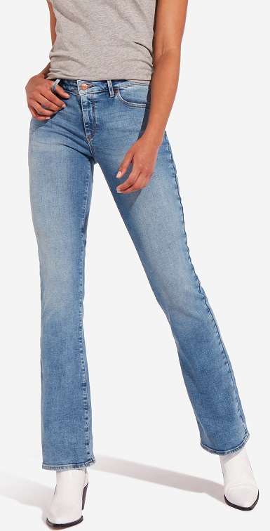 Jeans Wrangler Bootcut Water Blue