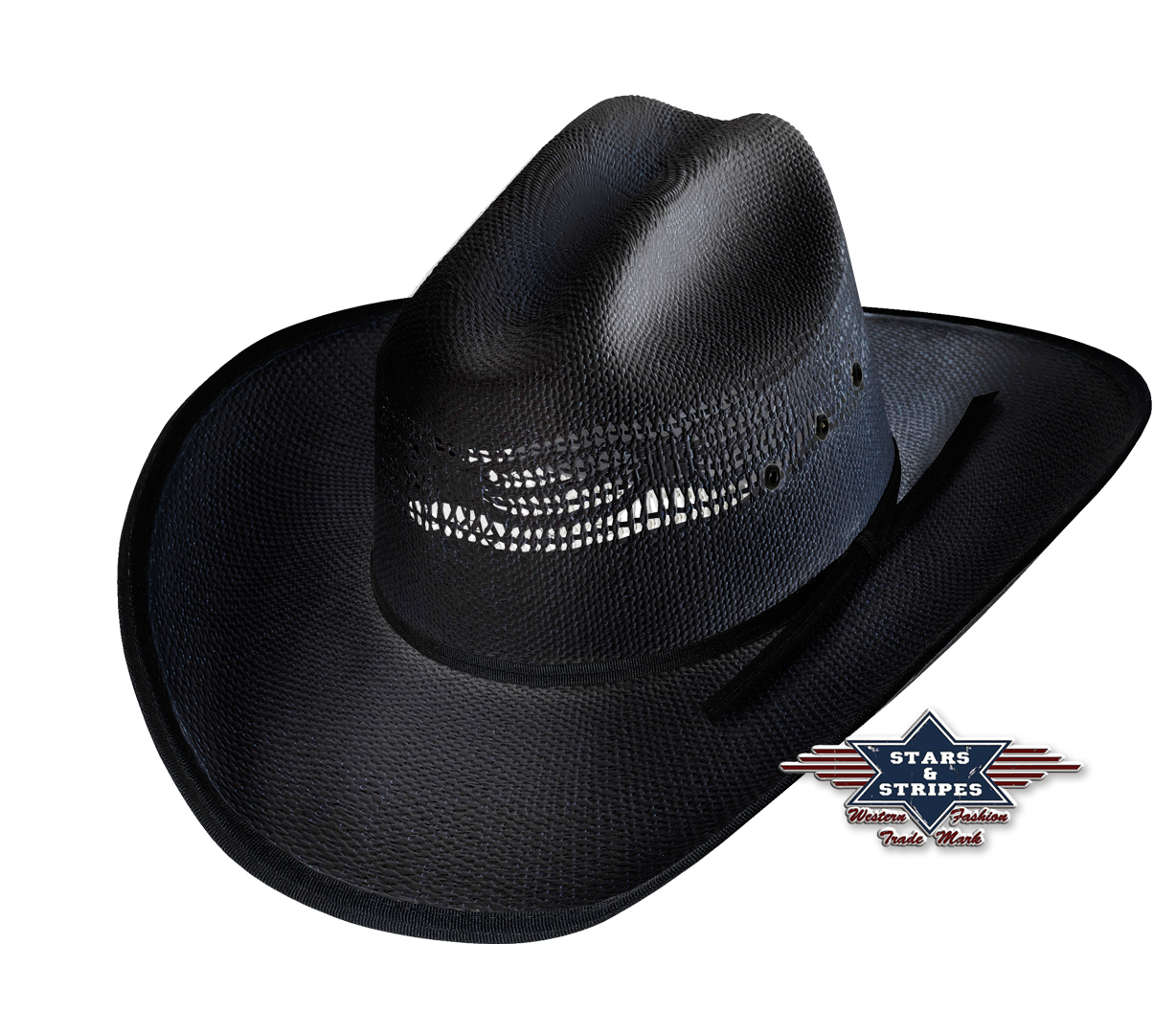 Cappello Western Stars & Stripes Ashton black