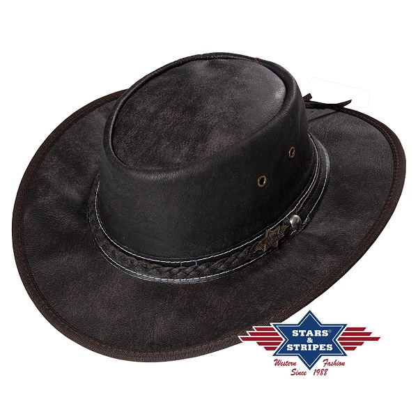 Cappello western in pelle di buffalo Stars & Stripes Blake