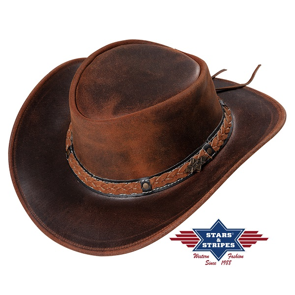 Cappello western in pelle Stars & Stripes Butch