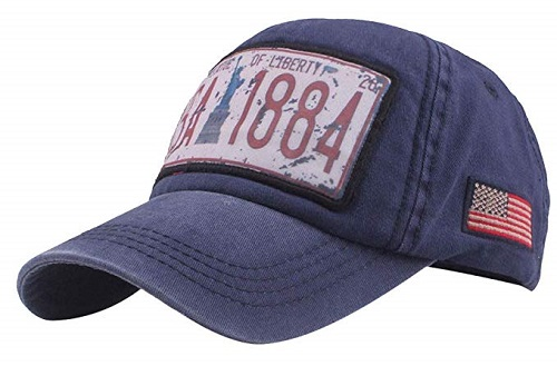 Cappellino USA 1884 blue