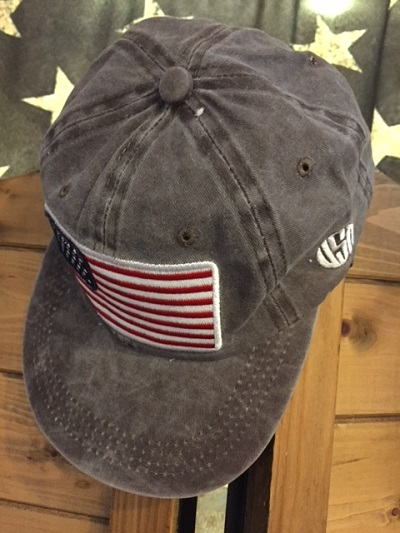 Cappellino USA flag brown