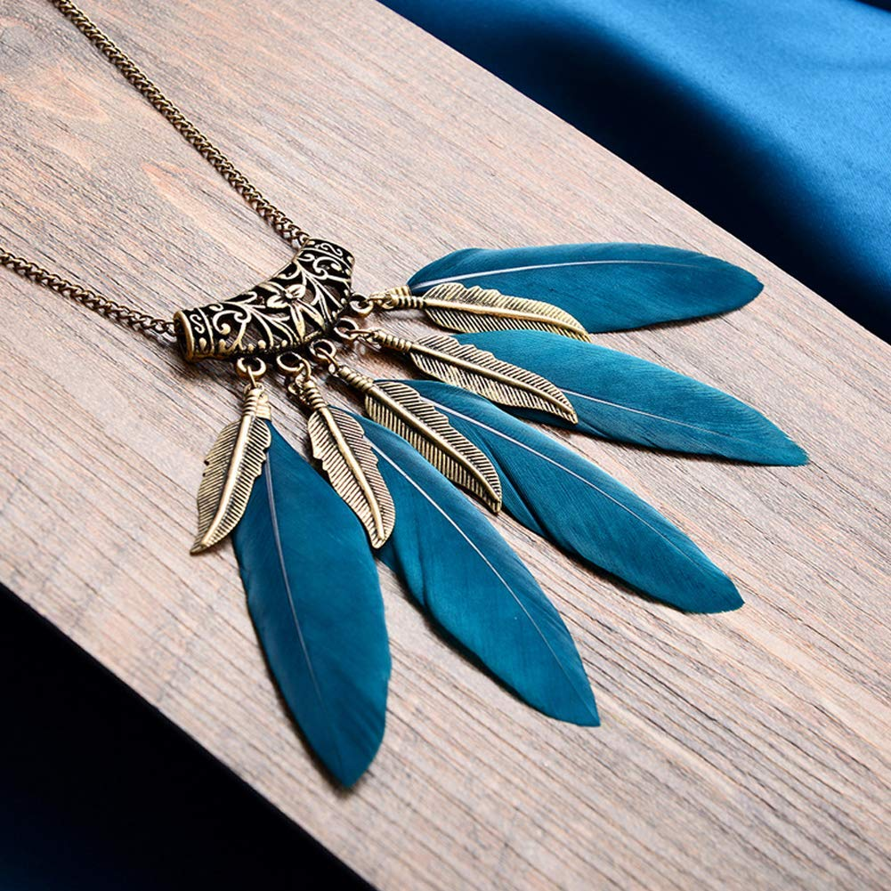 Collana Blue Feathers