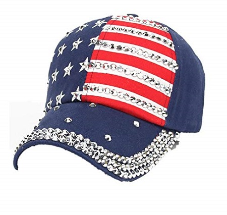 Cappellino U.S.A. Bling Blue