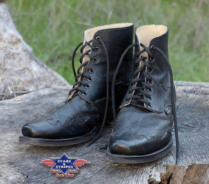Stivaletti in pelle Stars & Stripes Henderson Black