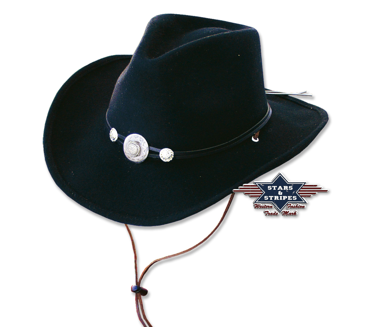 Cappello Western Stars & Stripes Idaho Black