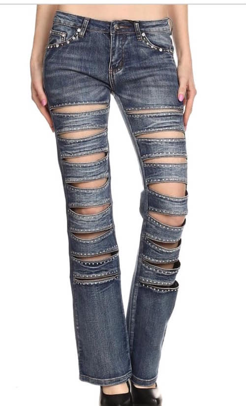Jeans Platinum Plush front outlined