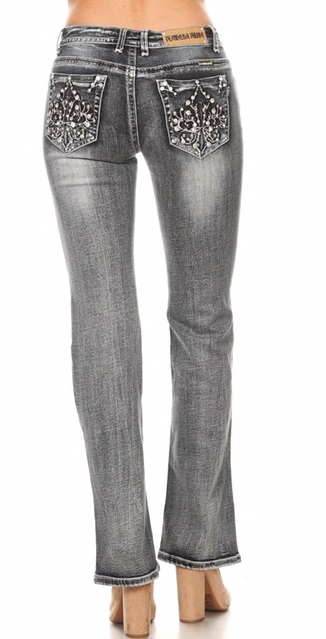 Jeans Platinum Plush Faded Grey