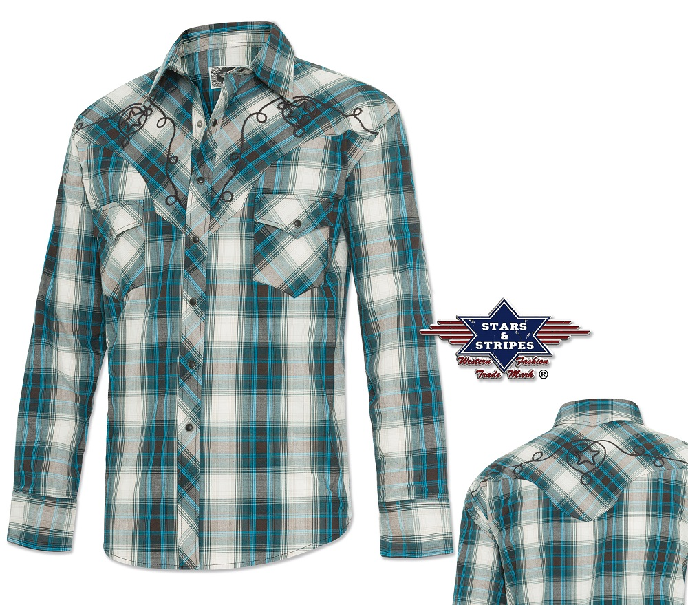 Camicia Stars & Stripes Jeff Blue
