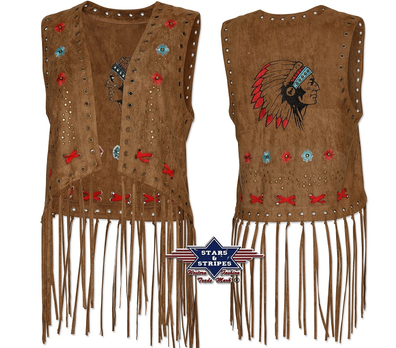 Corpetto con frange Stars & Stripes Joleen Brown