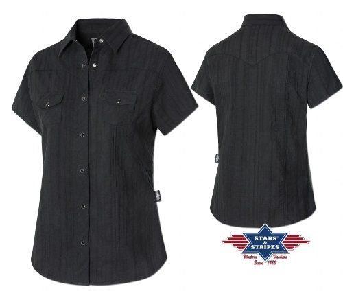 Camicia Stars & Stripes Malina black