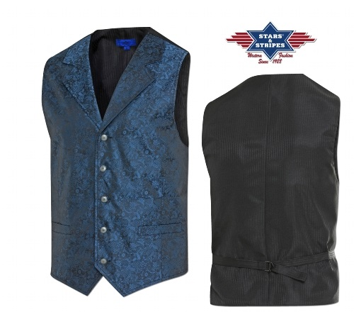 Corpetto con frange Stars & Stripes Royal Flush