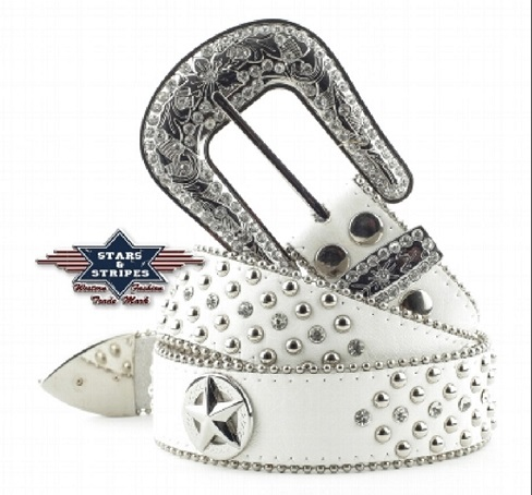 Cintura Stars & Stripes white
