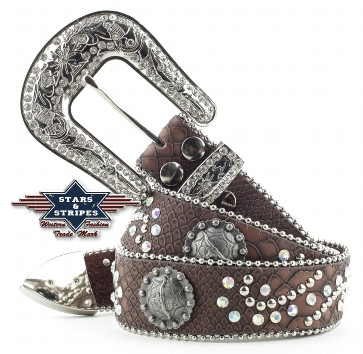 Cintura Stars & Stripes stone brown