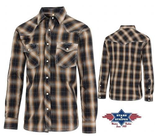 Stars /& Stripes Western Camicia Fernando Uomo Western Shirt Abbigliamento WESTERN
