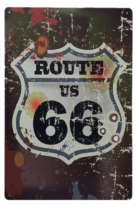 Insegna vintage Route 66