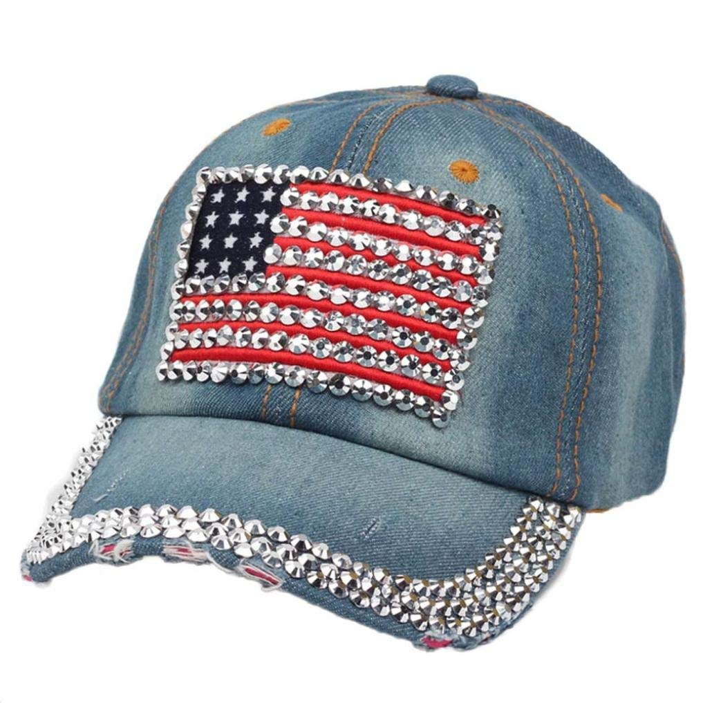 Cappellino U.S.A bling denim