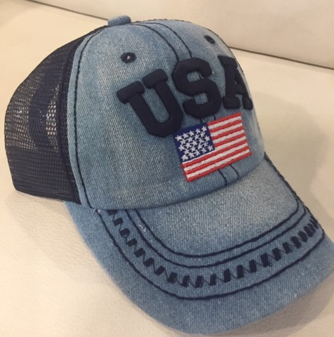Cappellino U.S.A Denim Dark Blue