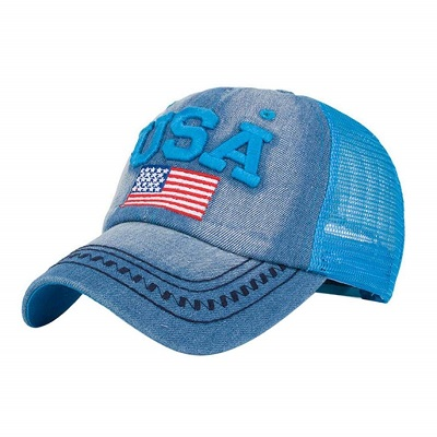 Cappellino U.S.A Denim Blue