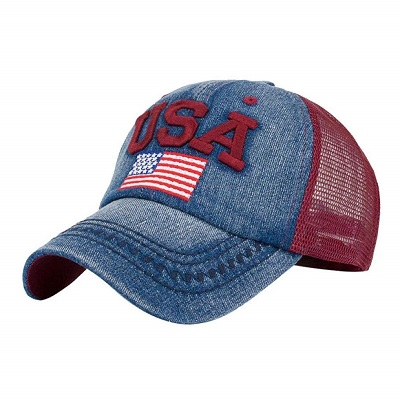 Cappellino U.S.A Denim Red