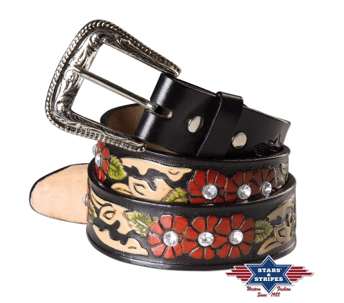 Cintura in pelle Stars & Stripes WG-105